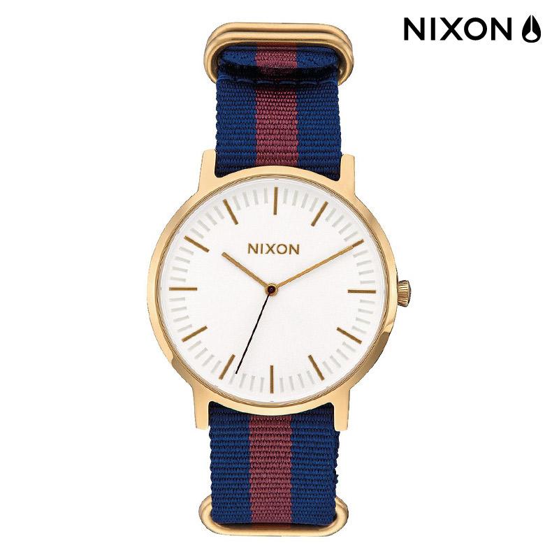 NIXON THE PORTER NYLON(ニクソン ザ ポーター ナイロン)GOLD/WHITE/RED【時計】16FA-I