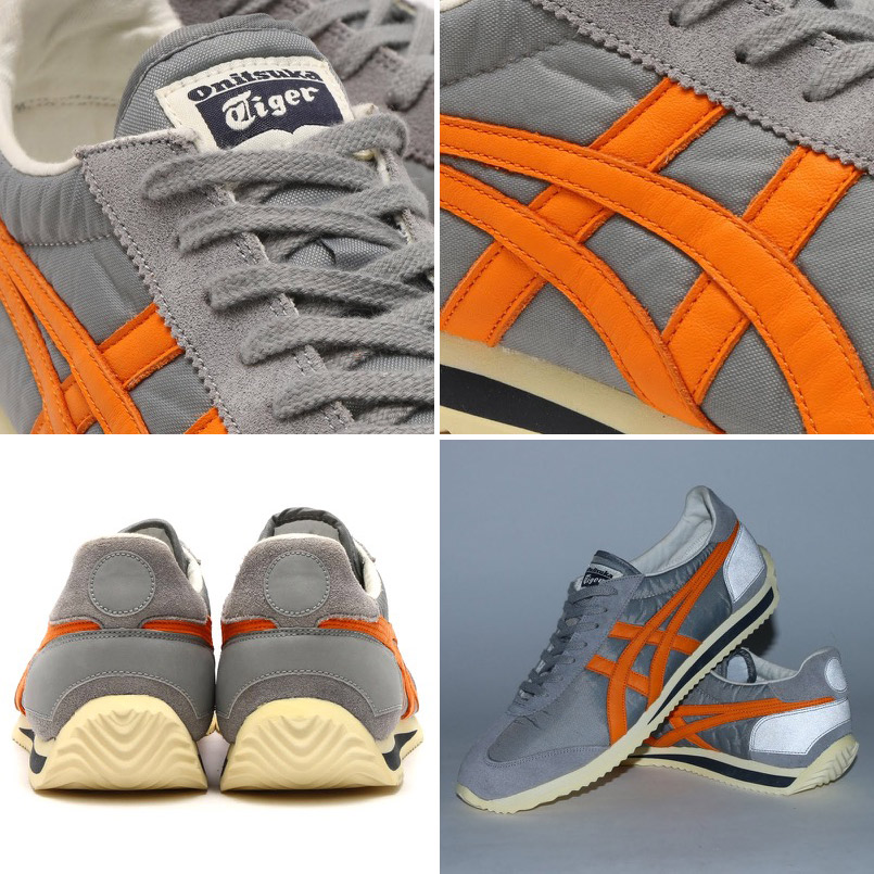 Onitsuka Tiger CALIFORNIA 78 VIN (ONITSUKA Tiger California 78 vintage) MEDIUM GREA/Orange PEPPER 16SS-I