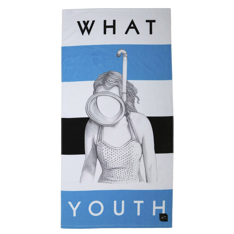 SLOWTIDE FESS UP(WHAT YOUTH COLLAB)(スロータイド フェス アップ WHAT YOUTH COLLAB)WHITE/BLUE/BLACK【ビーチ タオル】16FA-I