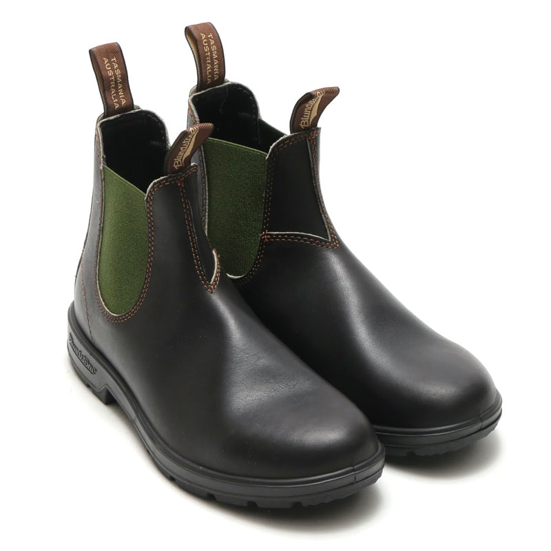 BLUNDSTONE BS519 (ブランドストーン BS519)STOUT BROWN/DARK GREEN【メンズ サイドゴア ブーツ】16FA-I