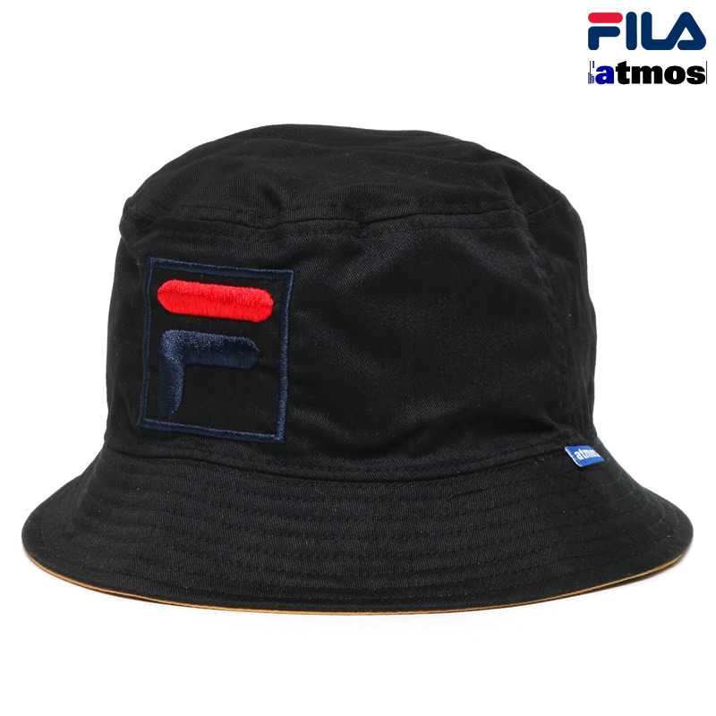 71e51895 Fila×Atmos REVERSIBLE BUCKET HAT (Fila x Atmos reversible bucket Hat)  BLACK/ ...