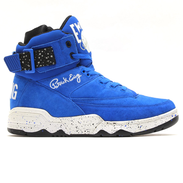 EWING ATHLETICS×atmos 33 HI (ユーイング 육상 × 엣 모스 33 경) ATMOS BLUE/BLACK/WHITE