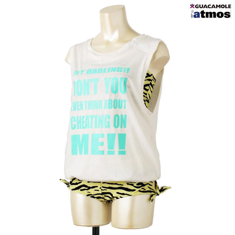 うる星やつら×atmos×GUACAMOLE Tシャツ オールインワン(うる星やつら×アトモス×ガカモレ Tシャツ オールインワン)2色展開15FW-I
