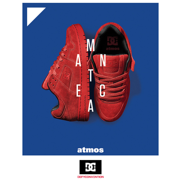 SHOES×atmos DC MANTECA (DC shoes x Atmos Manteca) RED