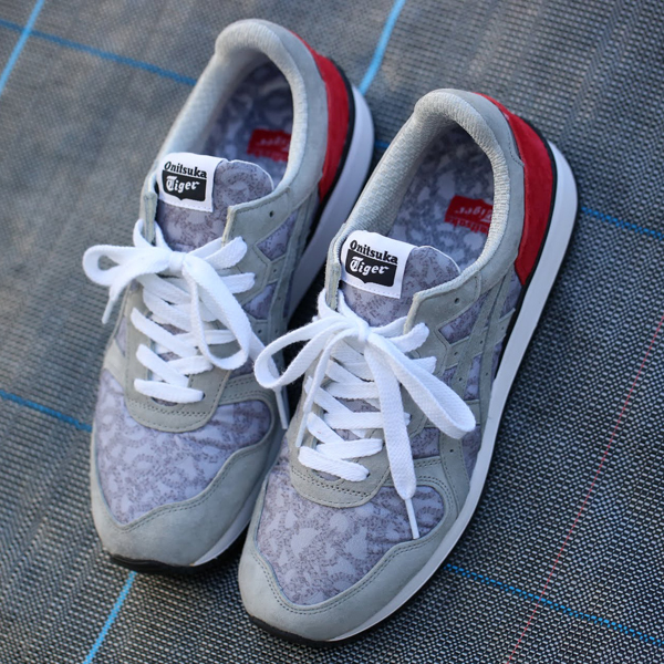 "Onitsuka Tiger TIGER ALLIANCE ""NUMBER (N) INE×atmos"" (오니트카타이가아라이안스""넘버 나인×아트모스"") GREY/RED 14 AW-S"