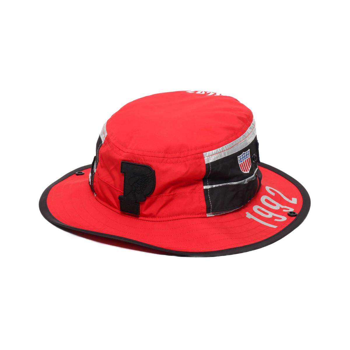 【エントリーで全品10倍】POLO RALPH LAUREN BOONEY CAP-HAT(ポロ ラルフ ブーニー ハット)RED MULTI【メンズ ハット】18HO-I