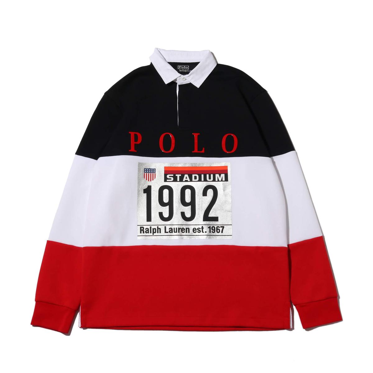 POLO RALPH LAUREN LSRUGBYM1-LONG SLEEVE-KNIT(ポロ ラルフ ローレン ロング スリーブ ニット)WHITE MULTI【メンズ セーター】18HO-I