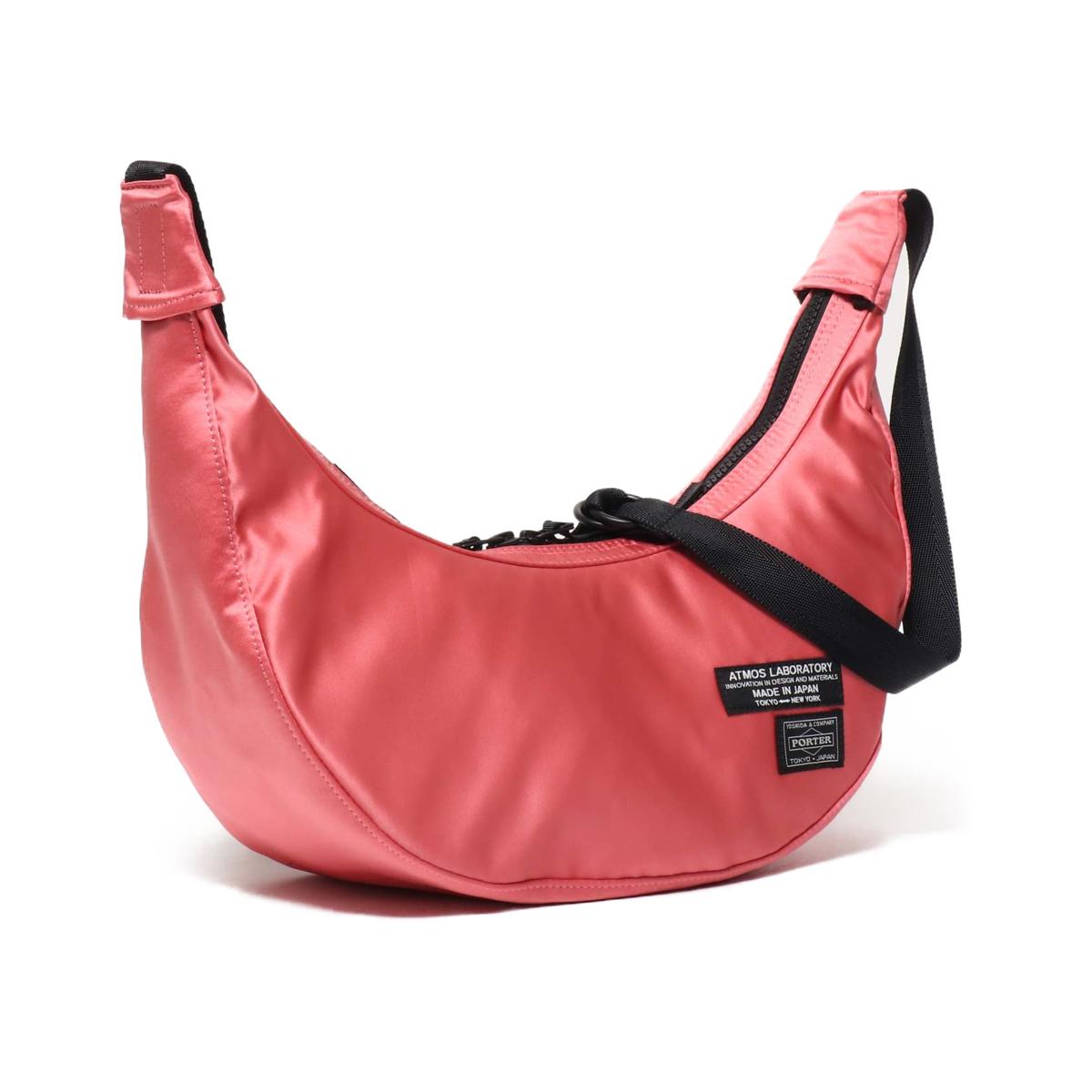 PORTER x ATMOS LAB SATIN SHOULDER BAG(ポーター アトモスラボ サテン ショルダーバッグ)PINK【メンズ レディース ショルダーバッグ】19SU-S