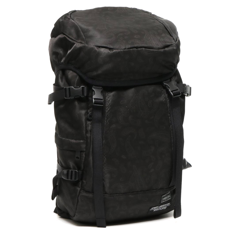 PORTER × ATMOS LAB PAISLEY RUCK SACK (ポーター × アトモスラボ ペイズリー リュックサック)BLACK【バックパック】16HO-S