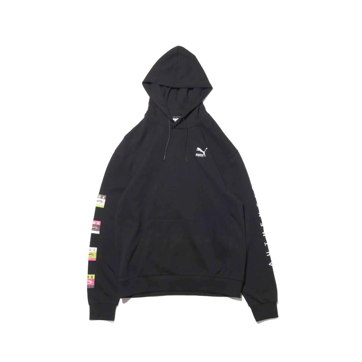 PUMA 90S RETRO HOODY(プーマ 90S レトロ フーディー)COTTON BLACK【メンズ パーカー】19SP-I