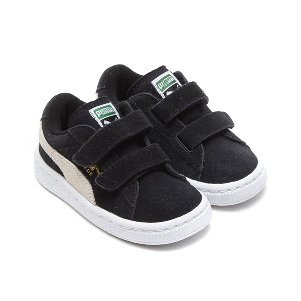watch 4e4f6 4fdc0 PUMA SUEDE 2 STRAP KIDS (Puma suede cloth 2 strap kids) 01BLACK-WHITE 17FA-I