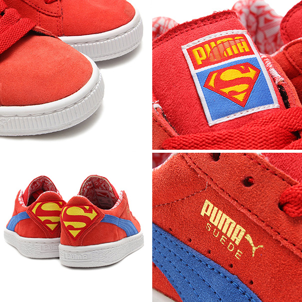 PUMA SUEDE SUPERMAN Jr (프마스에이드스파만쥬니아) HIGHRISK RED/STRONG BLUE/BUTTERCUP 15 SP-I