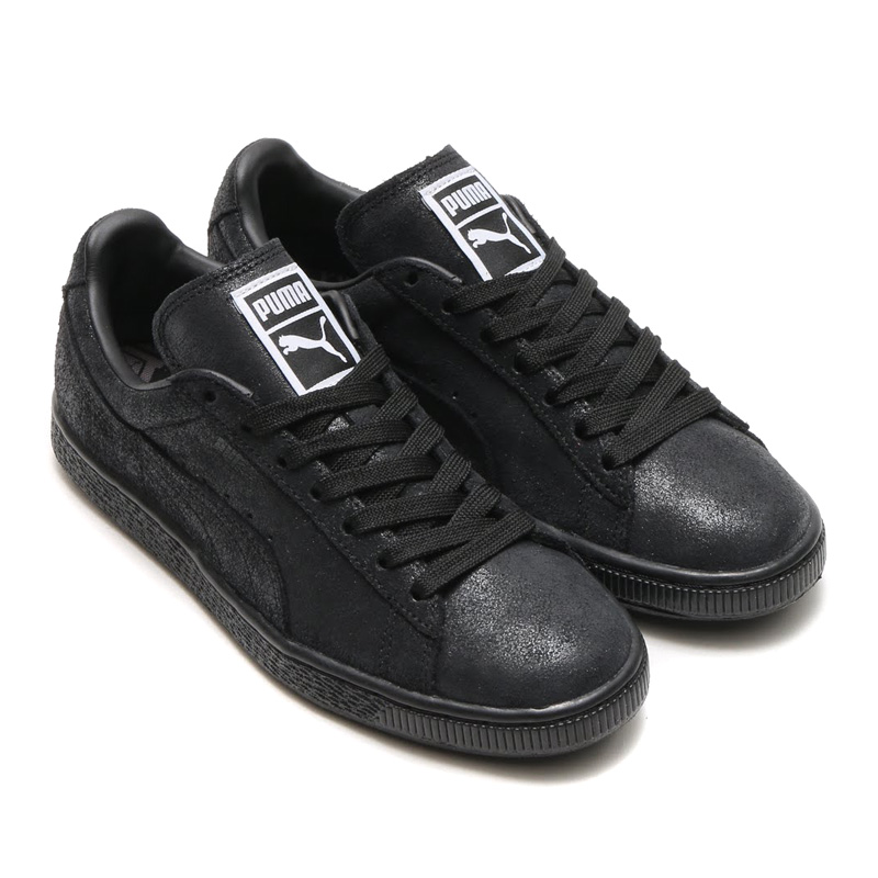 huge selection of 39a40 94d0f PUMA SUEDE CLASSIC + LOW MATT SHINE WOMENS (women s Puma Suede classic plus  low matte   shine) BLAC steel GREY 15FA-I