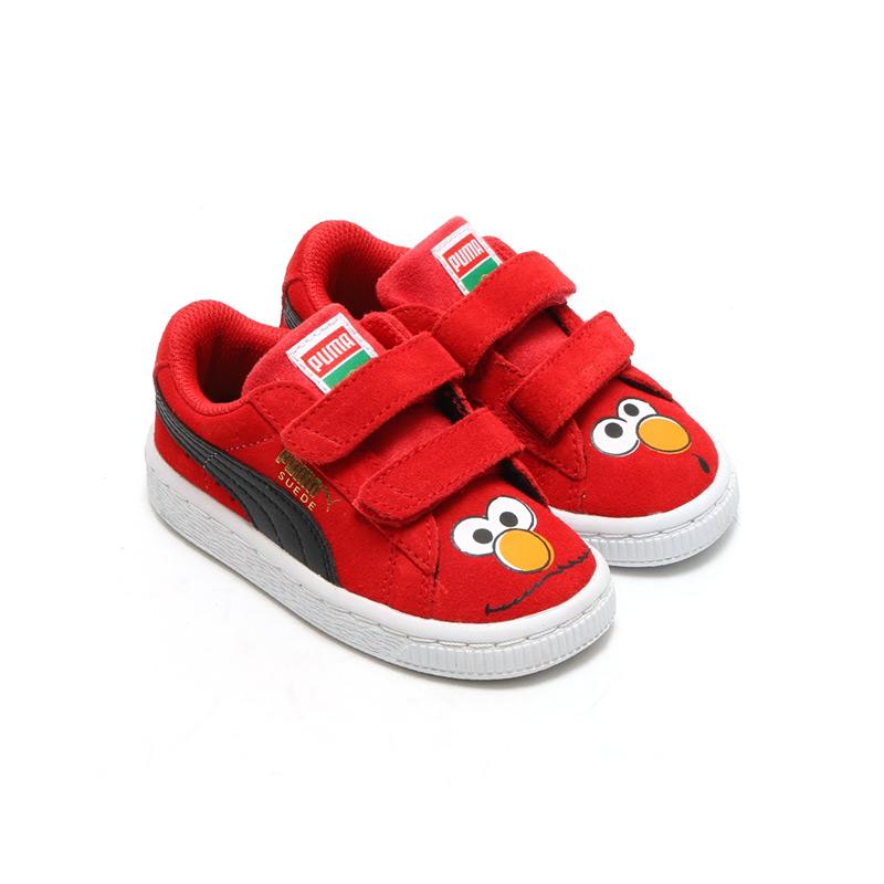 f01c31339366 atmos-tokyo  PUMA SUEDE SESAME STR ELMO KIDS (Puma Swede Sesame Street Elmo  kids) HIGH RISK RED BLACK 16SP-I