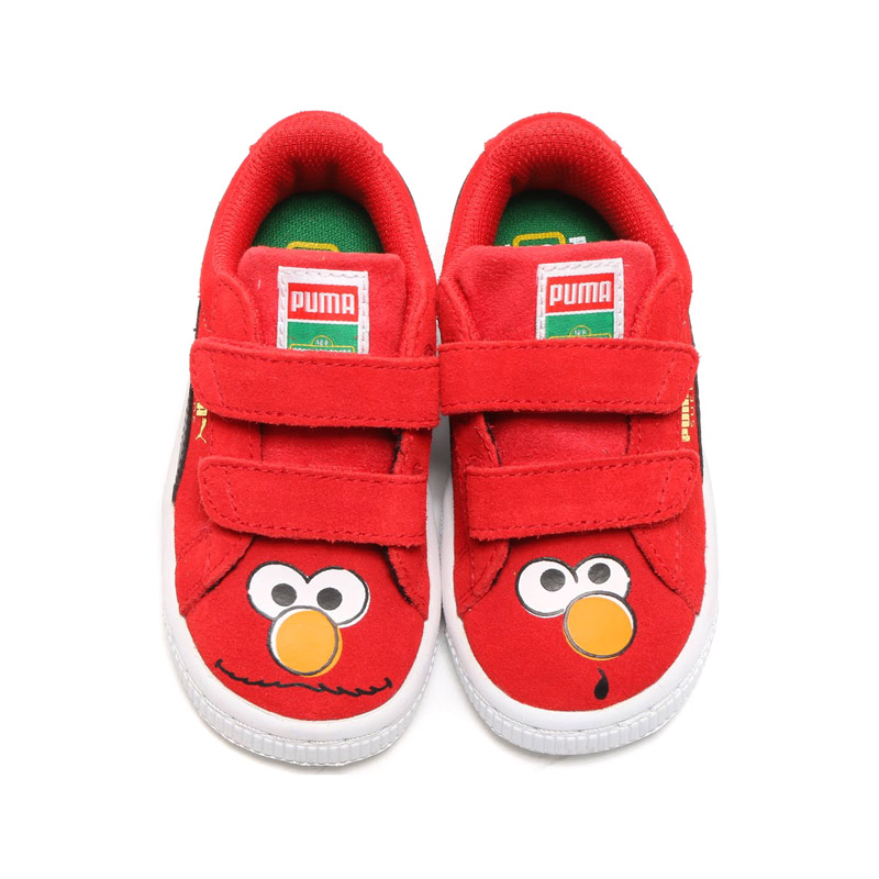 PUMA SUEDE SESAME STR ELMO KIDS (Puma Swede Sesame Street Elmo kids) HIGH RISK RED/BLACK 16SP-I