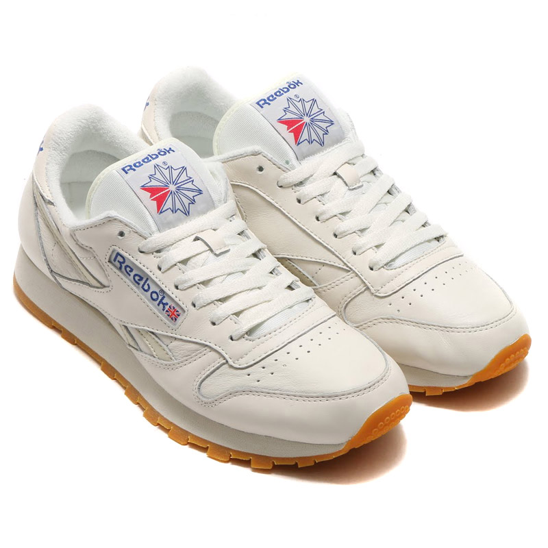 Reebok CL LTHR VINTAGE (Reebok classical music leather vintage) CHALKPAPERWHITECOLLEGIATE ROYALEXCLLNT RED 16SS S
