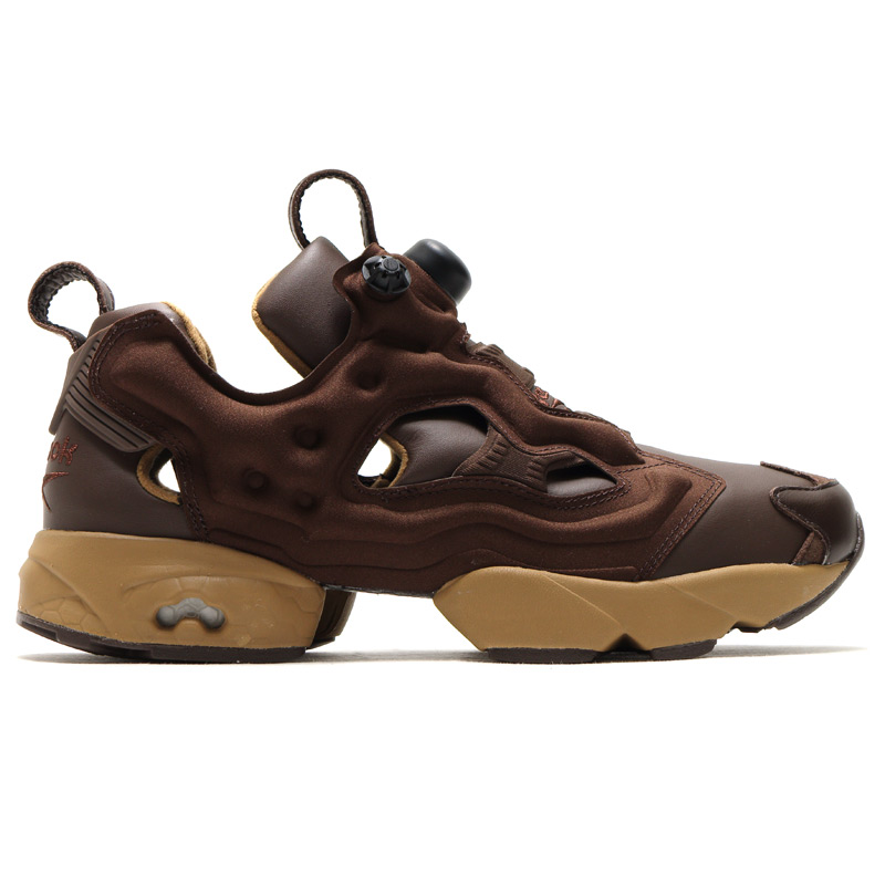 Reebok CLASSIC×atmos×THEATRE PRODUCTS INSTA PUMP FURY OG (리 복 클래식 × 엣 모스 × 시어터 제품 インスタ 펌프 분노) DARK BROWN/WALNUT/DESSERT KHAKI 16SS-S