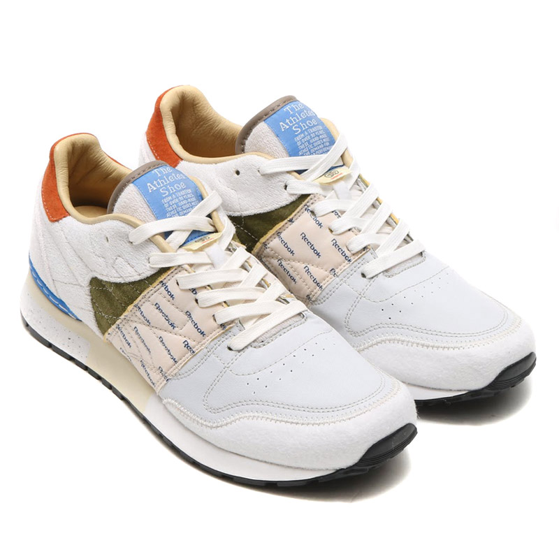 1820c7e174ab1a Reebok GS CL LTHR 6000 (Reebok CL GS leather 6000) WHITE MOSS GREEN FRENCH  BLUE 15SS-I