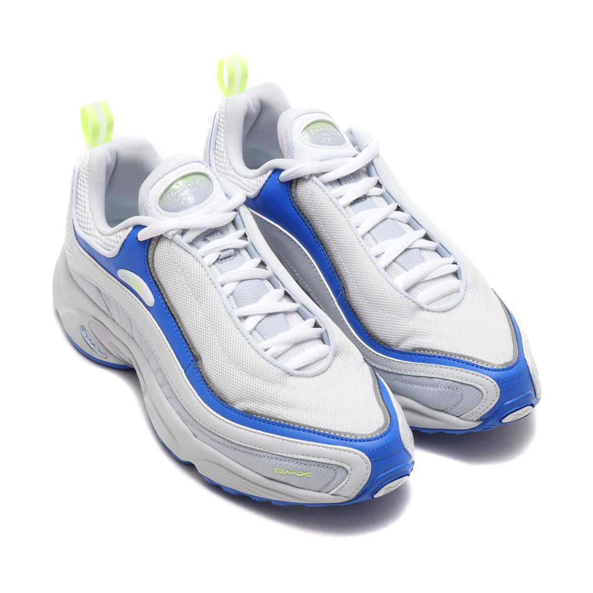Reebok DAYTONA DMX SC(リーボック デイトナ DMX SC)SPIRIT WHITE/WHITE/CLOUD GRAY/VITAL BLUE/LEMON【メンズ スニーカー】18FW-I