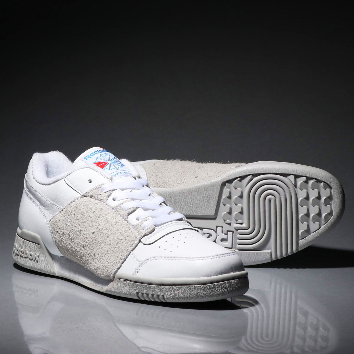 retail prices volume large top-rated professional Reebok WORKOUT PLUS NEPENTHES (Reebok practice game plus nepenthe)  WHT/STEEL/BLUE 19SS-S