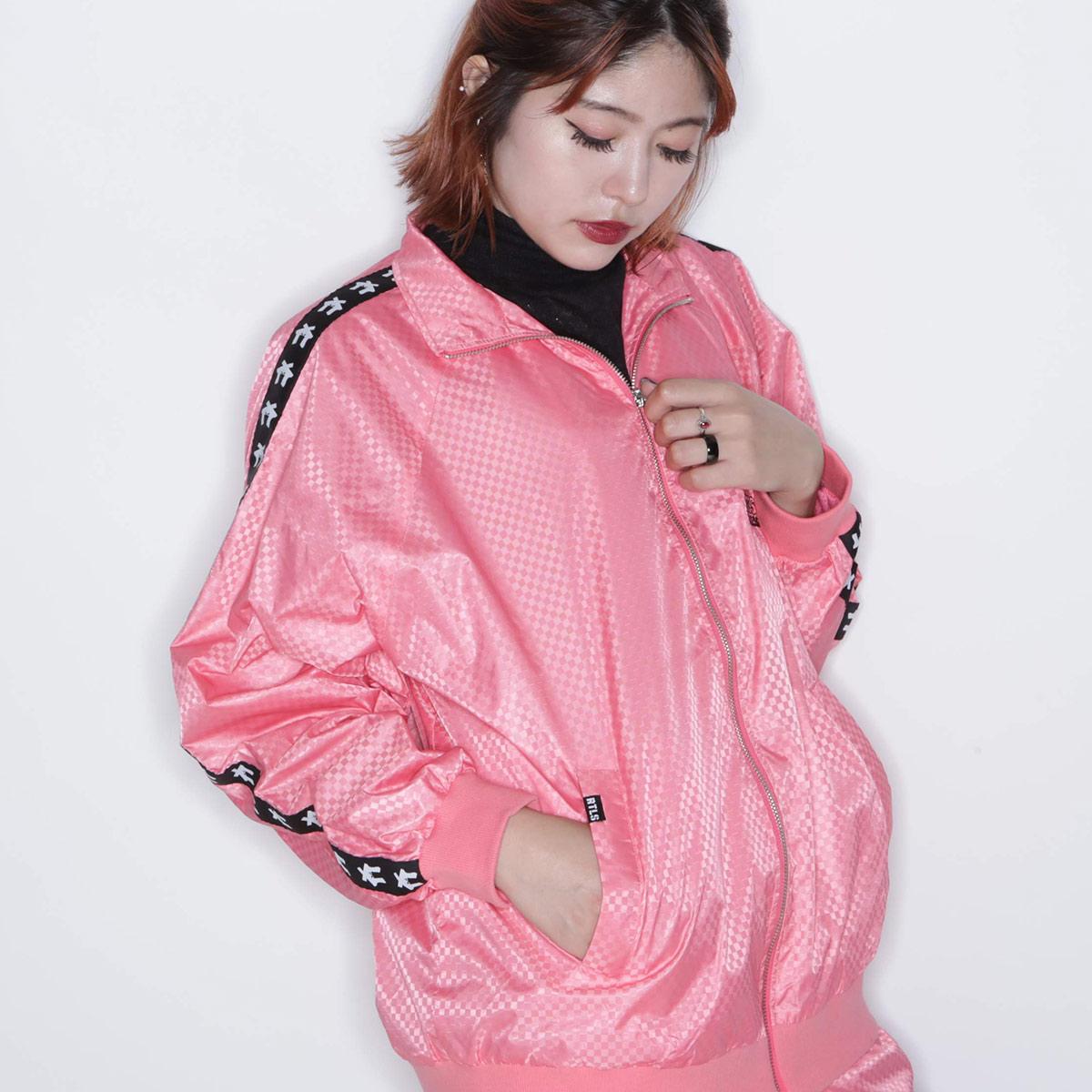 RUTHLESS × atmos pink TRACK TOP (ルスリス × アトモス ピンク トラック トップ)PEACK【レディース 長袖Tシャツ】18FA-I