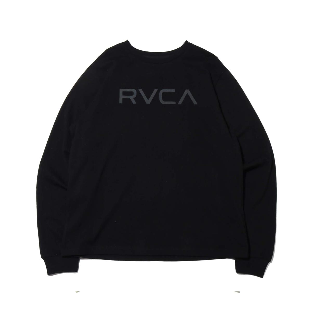 RVCA BIG RVCA LS TEE(ルーカ ビッグ ルーカ ロングスリーブ ティー)BLACK【メンズ 長袖Tシャツ】19FW-I