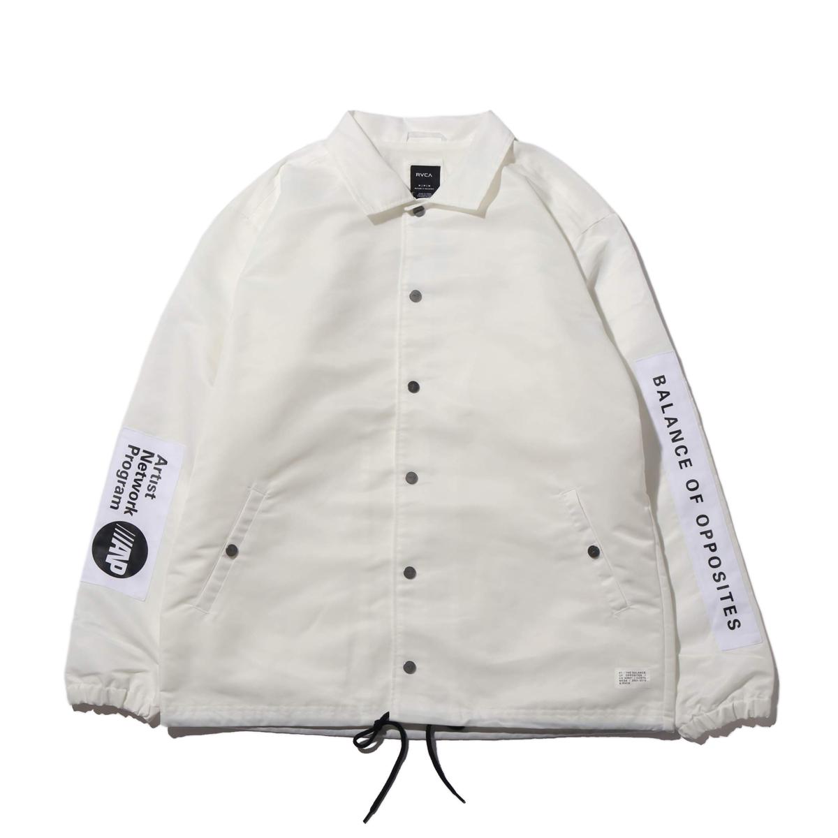 RVCA PATCH JACKET(ルーカ パッチ ジャケット)WHITE【メンズ ジャケット】19FA-I