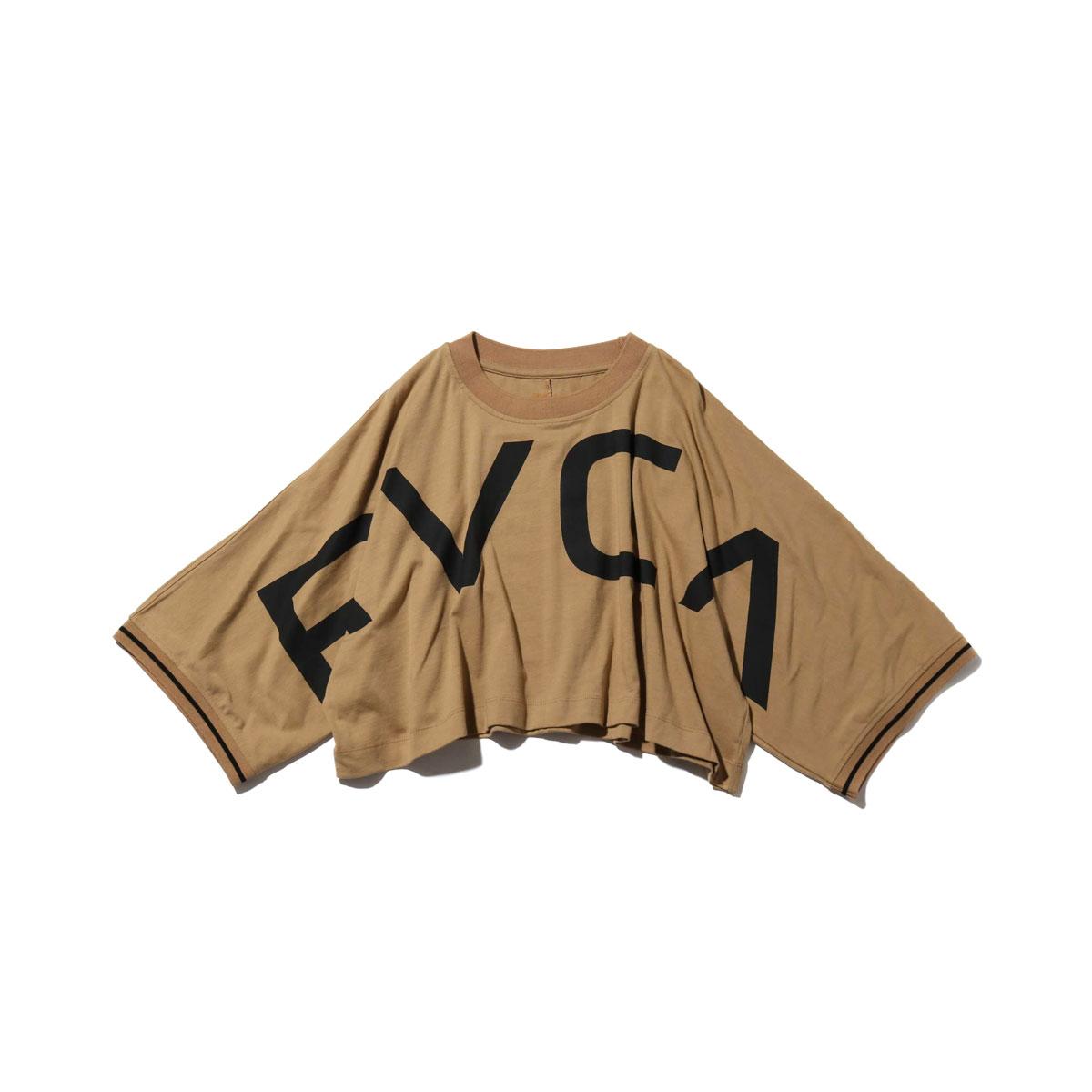 RVCA OVER RVCA LS TEE (ルーカ オーバー ルーカ ロングスリーブ) BEIGE【レディース Tシャツ】18HO-I