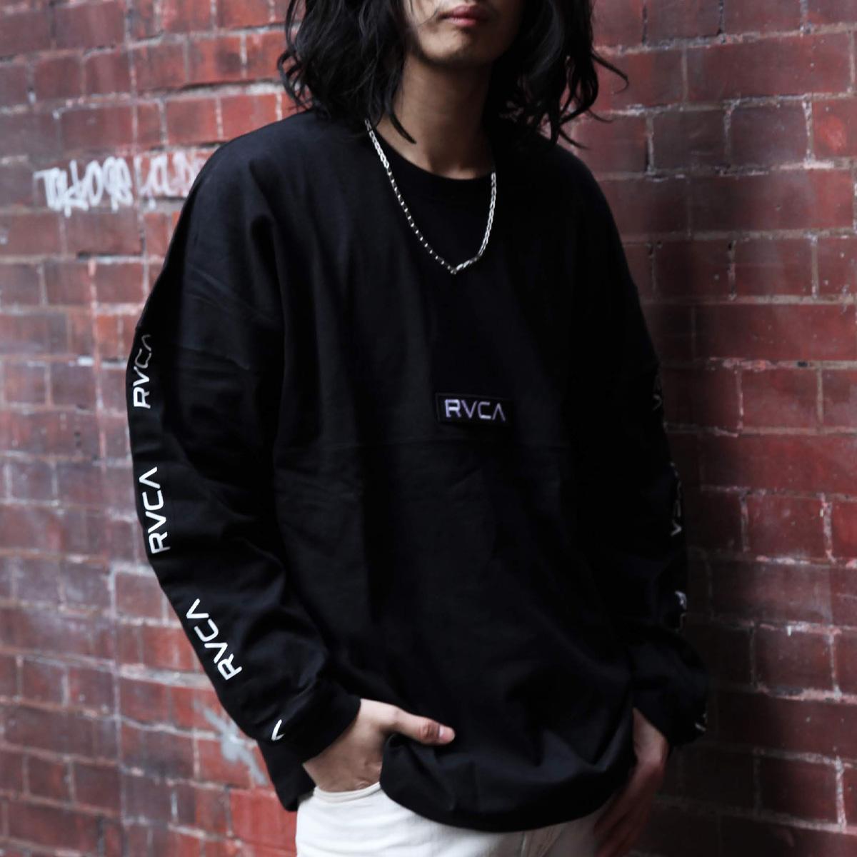 RVCA TAPE RVCA BIG LT(ルーカ テープ ビッグロンT)BLACK【メンズ 長袖Tシャツ】20SS-I