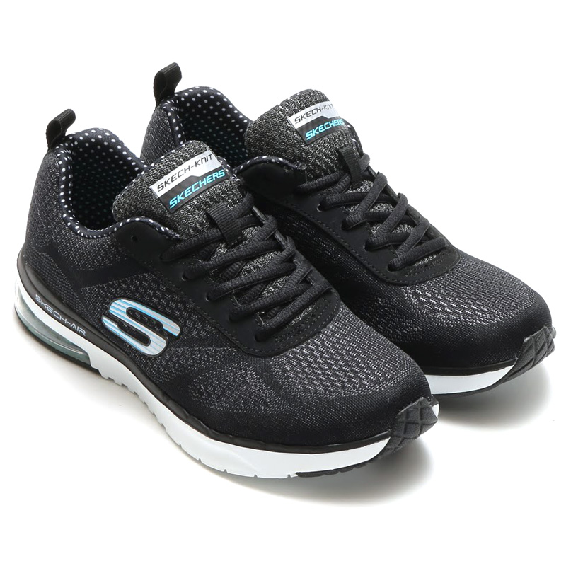 skechers shape ups black and white