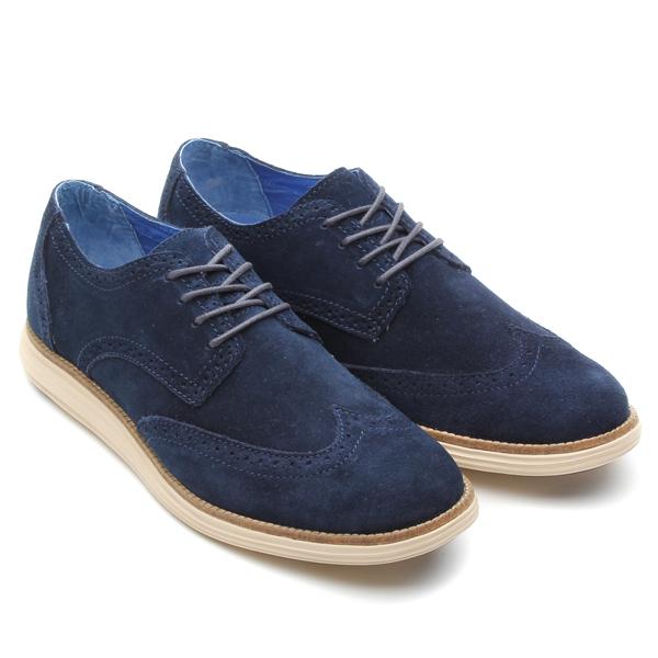 MARK NASON×SKECHERS EMBOLDEN (mark Nason × Skechers embolden) BLUE MILLED  SUEDE TAN BROWN 13FA-I