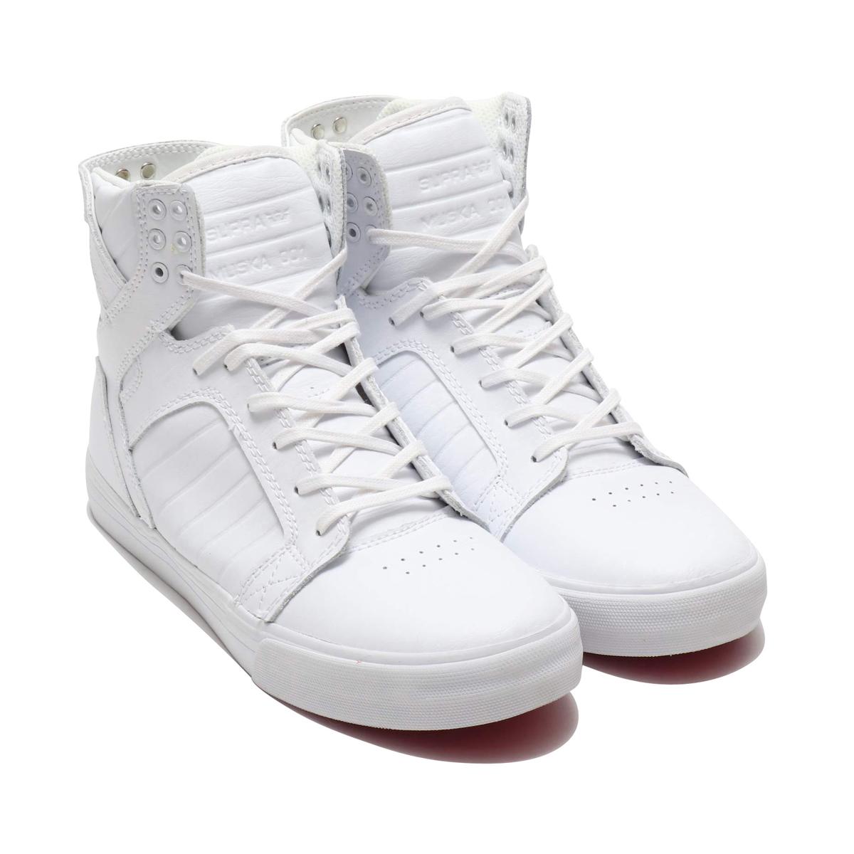 SUPRA SKYTOP CLASSICS (スープラ スカイトップ クラシックス)WHITE/WHITE-RED【メンズ スニーカー】CRYOVR
