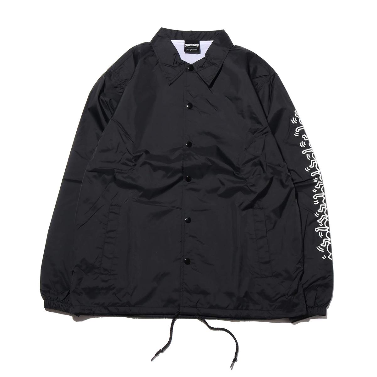 THRASHER x Keith Haring Coach Jacket (スラッシャー キースへリング コーチ ジャケット)BLACK【メンズ ジャケット】18FW-I