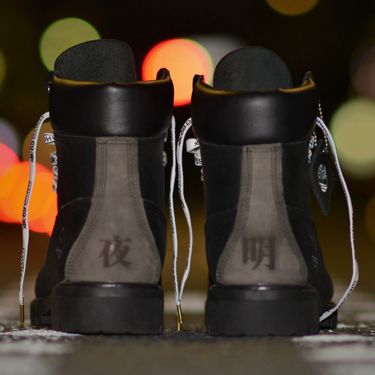 Timberland AK-69×atmos Custom 6inch Boot(ティンバーランド AK-69×アトモス カスタム 6インチ ブーツ)BLACK SMOOTH/DARK GRAY SMOOTH【レディース ブーツ】17HO-S
