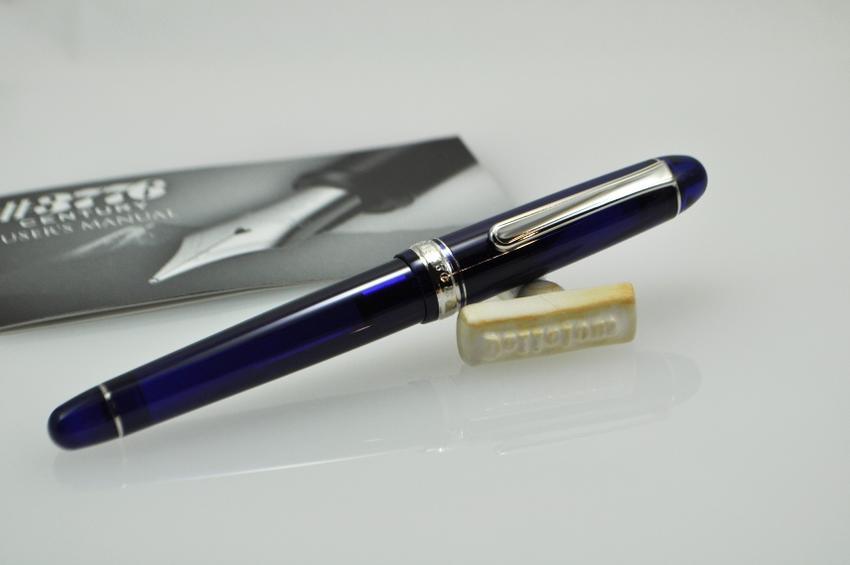 プラチナ #3776センチュリー万年筆 ロジウムフィニッシュ シャルトルブルー
