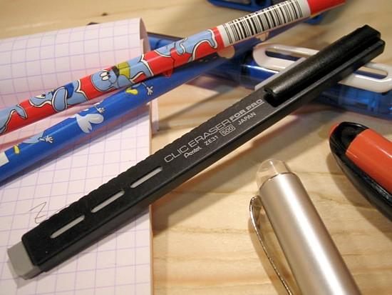 CLIC ERASER クリックイ laser flat-screen knock eraser (for pencil-sharp)