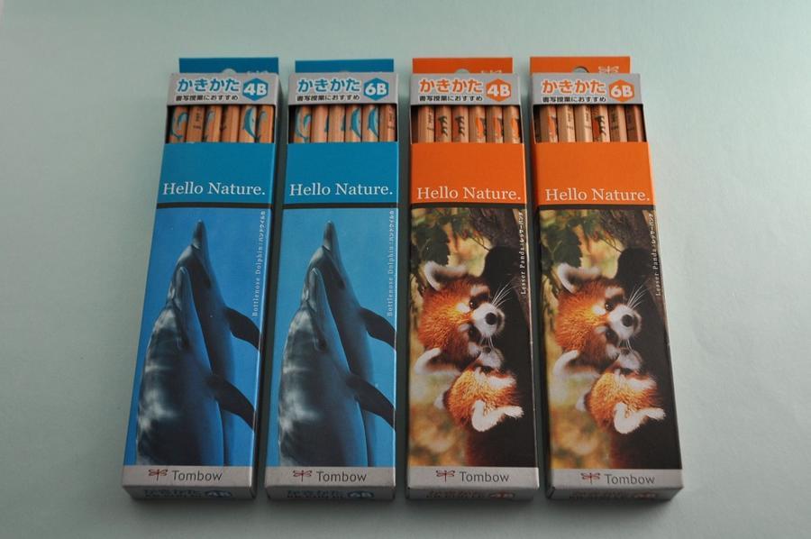 書写授業におすすめ 名前入れ無料 トンボ鉛筆 ハローネイチャーかきかた鉛筆 4B・6B