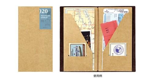 卸直営 旅を愛する全ての人たちへ メール便配送可能 TRAVELER'S トラベラーズノートクラフトファイル 格安 価格でご提供いたします notebookミドリ