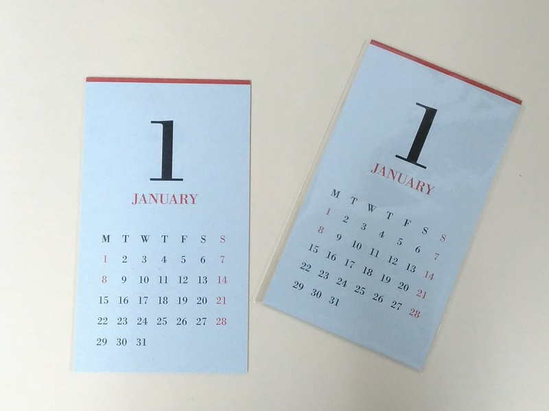 MUCU CLAMP CALENDER ムククランプカレンダー (refill for 2,018 years for)
