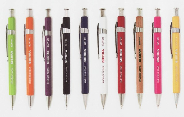 SLIP-ON SIERRA wood shaft ballpoint pen (short type)
