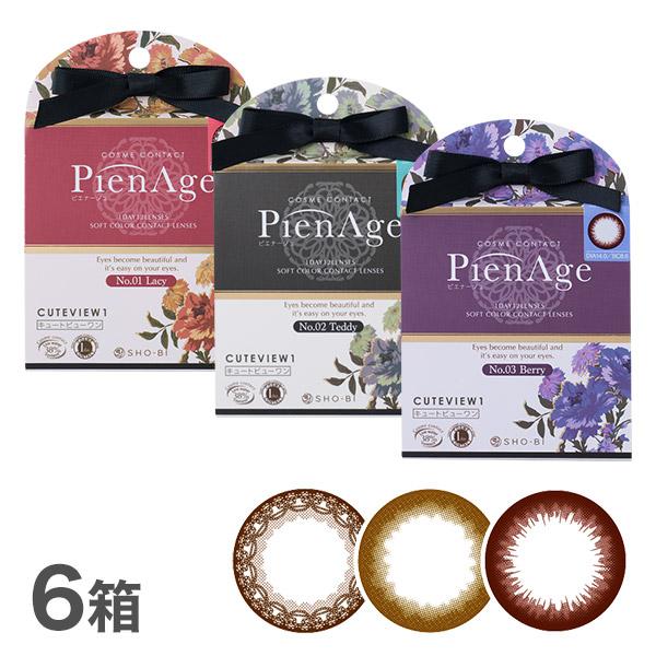 【送料無料】ピエナージュ 6箱セット(PienAge / ピエナージュ / 1日使い捨て / 12枚入り)