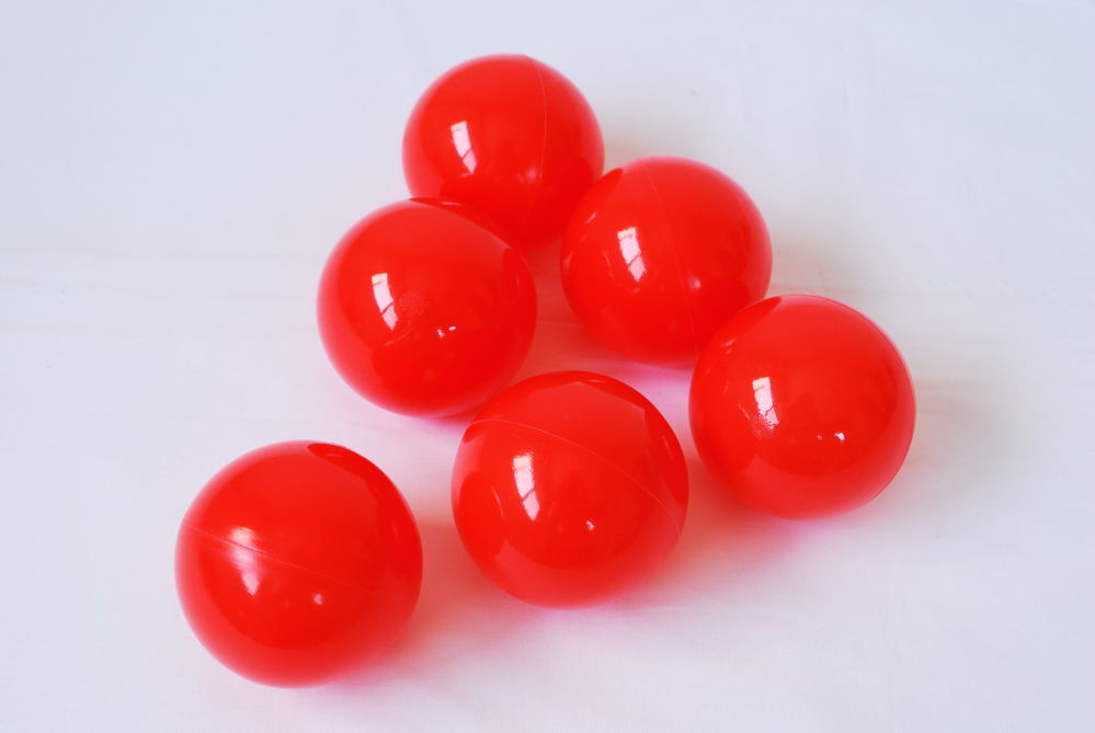 ボールプール用ボール(赤)500個入り