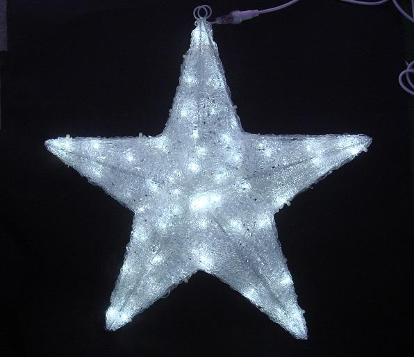 星形モチーフイルミネーションで 飾り付けを盛り上げましょう ☆国内最安値に挑戦☆ 白色LED 格安 90cm クリスタルスターライト