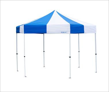 *ミスタークイック テント*スチール・アルミ複合タイプ(一辺180cmの正六角形)6T-18型