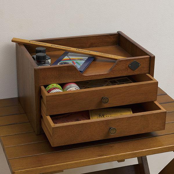Tabletop wristlet A4 chest antique storage documents storage desktop box documents shelves lettercase drawer storage storage boxes 3-A4 book Hokusai reception café retro vintage drawer stationery stylish kids room wooden completed desk chest mini