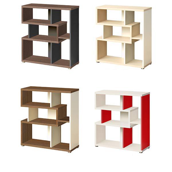 Open rack width 80 shelf display rack Scandinavian decoration shelf  dividers storage low shelf wooden white ...