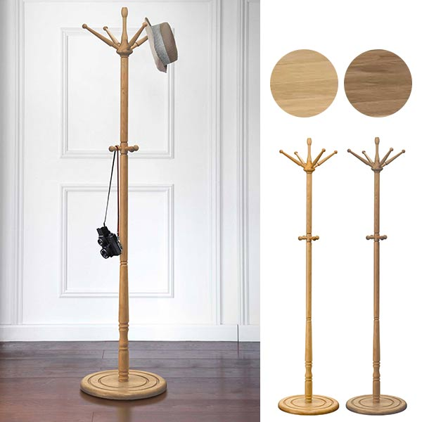 Atomstyle Coat Hanger Wooden Antique Paul Stand Hat Pole Clothes Impressive Vintage Standing Coat Rack