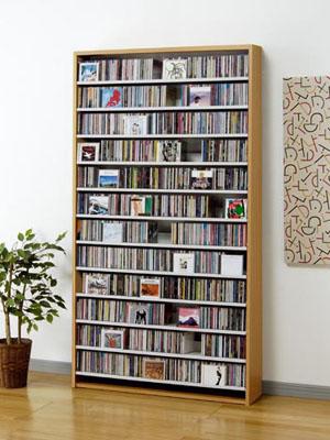 CDラック 大容量 スリム おしゃれ cd ラック DVD 収納 棚 木製 CD最大1284枚収納可能 dvdラック DVD最大560枚収納可能 ナチュラル