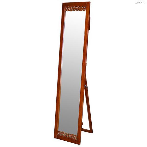 スタンドミラー 全身鏡 姿見 全身 鏡 全身ミラー ミラー 鏡 立て鏡 スタンド 木枠 木製鏡 木 木製フレーム レトロ アジアン おしゃれ 大型ミラー ブラウン モダン インテリア 家具 デザイン おすすめ アジアンテイスト スリム 新生活 全身かがみ 幅35cm 約高さ160cm