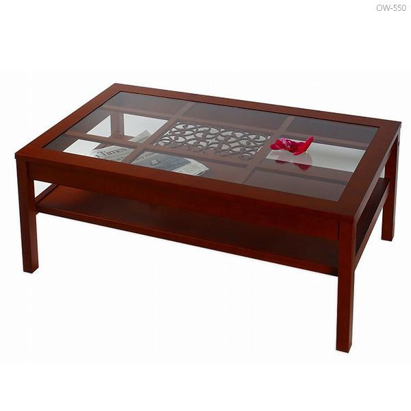 (アジアン) (和風) コーヒー ウォーターヒヤシンス (brown) ガラステーブル 【relatles】 ブラウン ナチュラルリビング リビングテーブル : ブラウン:直径800